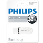 32GB Philips High Speed Snow Series 2.0 Flash Key Drive USB Memory Stick. 1 Pack