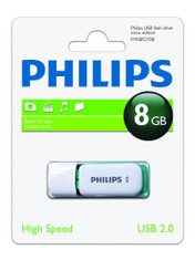 8GB Philips High Speed Snow Series 2.0 Flash Key Drive USB Memory Stick. 1 Pack