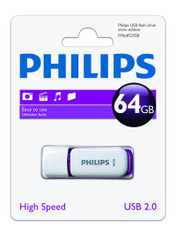 64GB Philips High Speed Snow Series 2.0 Flash Key Drive USB Memory Stick. 1 Pack