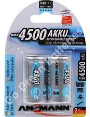 Ansmann C 4500 mAh RTU Stay Charged NiMH Rechargeable Batteries (HR14). 2 Pack