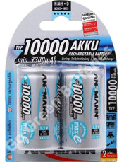 Ansmann D 10,000 mAh NiMH Rechargeable Batteries (HR14). 2 Pack