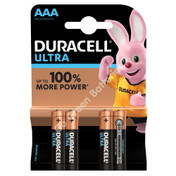 Duracell AAA Ultra Power Alkaline Batteries (LR03, MX2400) 4 Pack