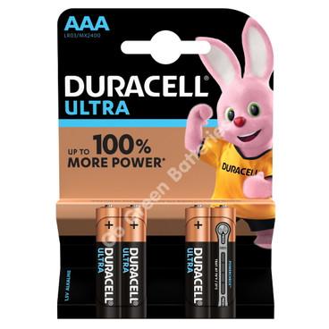 Duracell AAA Ultra Power Alkaline Batteries (LR03, MX2400) 4 Pack