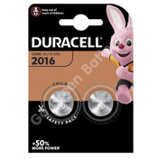 Duracell CR2016 3V Lithium Coin Cell Battery