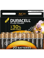 Duracell AA Plus Power Alkaline Batteries (LR6, MN1500). 20 Pack
