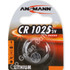 Ansmann CR1025 3 Volt Lithium Coin Cell Battery (1025, DL1025)