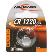 Ansmann CR1220 3 Volt Lithium Coin Cell Battery (1220, DL1220)