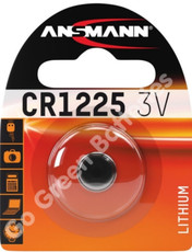 Ansmann CR1225 3 Volt Lithium Coin Cell Battery (1225, DL1225). 1 Pack