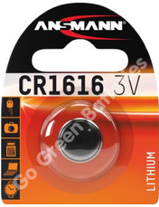 Ansmann CR1616 3 Volt Lithium Coin Cell Battery (1616, DL1616). 1 Pack