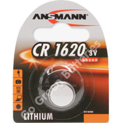 Ansmann CR1620 3 Volt Lithium Coin Cell Battery (1620, DL1620). 1 Pack