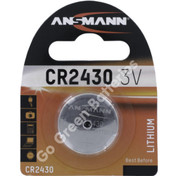 Ansmann CR2430 3 Volt Lithium Coin Cell Battery (2430, DL2430)