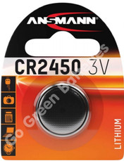 Ansmann CR2450 3 Volt Lithium Coin Cell Battery (2450, DL2450). 1 Pack