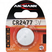 Ansmann CR2477 3 Volt Lithium Coin Cell Battery (2477, DL2477). 1 Pack