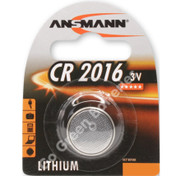 Ansmann CR2016 3 Volt Lithium Coin Cell Battery (2016, DL2016). 1 Pack