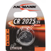 Ansmann CR2025 3 Volt Lithium Coin Cell Battery (2025, DL2025).