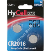 Ansmann Hycell CR2016 Volt Lithium Coin Cell Battery (2016, DL2016). 2 Pack