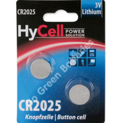 Ansmann Hycell CR2025 Volt Lithium Coin Cell Battery (2025, DL2025). 2 Pack