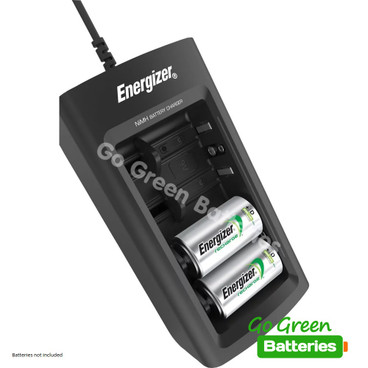 Energizer Universal Charger for AA, AAA, C, D & 9V Batteries. LCD Display