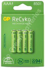 GP Recyko AAA 850 mAh Rechargeable Batteries, Pre-charged and Stay Charged