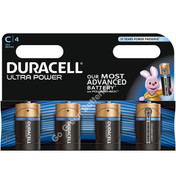 Duracell C Ultra Power Alkaline Batteries (LR14, MX1400). 4 Pack