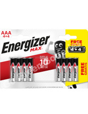Energizer AAA Ultra Plus Alkaline Batteries (LR03, MN2400). 8 Pack