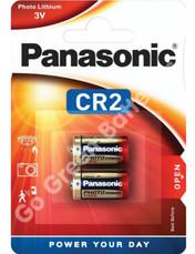 Panasonic CR2 3 Volt Lithium Ultra Photo Battery (DLCR2 / ELCR2). 2 Pack