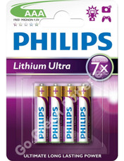 Philips AAA Lithium Single Use Batteries FR03 LR03 HR03 4 Pack