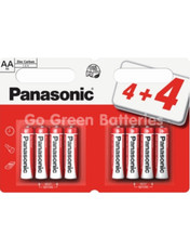 Panasonic AA Zinc Batteries x8 (LR6, MN1500).