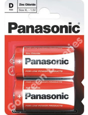 Panasonic D size Zinc Battery x2
