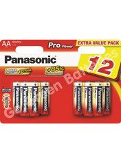Panasonic AA Pro Power Alkaline Batteries (LR6, MN1500) 12 Pack
