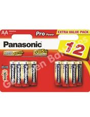 Panasonic AA Pro Power Alkaline Batteries (LR6, MN1500) 12 Pack