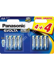 Panasonic AA Evolta High Power  Alkaline Batteries (LR6, MN1500) 8 Pack