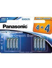 Panasonic AAA Evolta High Power Alkaline Batteries x8