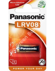Panasonic A23 12 Volt Alkaline Security Battery (23A, MN21, LRV08). 1 Pack