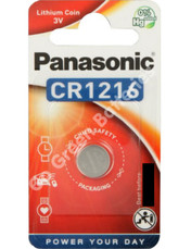 Panasonic CR1216 3 Volt Lithium Coin Cell Battery. 1 Pack