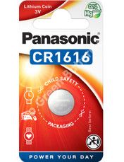 Panasonic CR1616 3 Volt Lithium Coin Cell Battery. 1 Pack