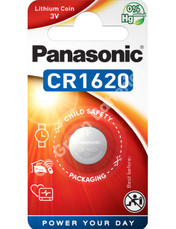 Panasonic CR1620 3 Volt Lithium Coin Cell Battery. 1 Pack