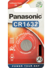 Panasonic CR1632 3 Volt Lithium Coin Cell Battery. 1 Pack