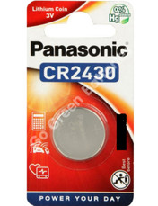 Panasonic CR2430 3 Volt Lithium Coin Cell Battery. 1 Pack