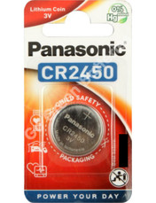 Panasonic CR2450 3 Volt Lithium Coin Cell Battery. 1 Pack
