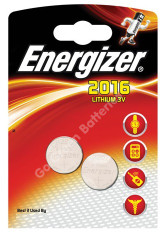 Energizer CR2016 Lithium Coin Cell battery 2 pack