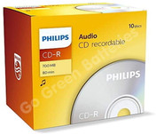 Philips CD-R Blank Recordable Discs For Music 700 MB