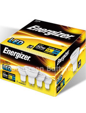Energizer GU10 5.2 Watt LED Dimmable Spotlight. 380 Lumens. Equivalent - 50W (Warm White). 4 Pack
