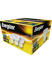Energizer GU10 5 Watt LED Spotlight. 350 Lumens. Equivalent - 50W (Warm White). 4 Pack