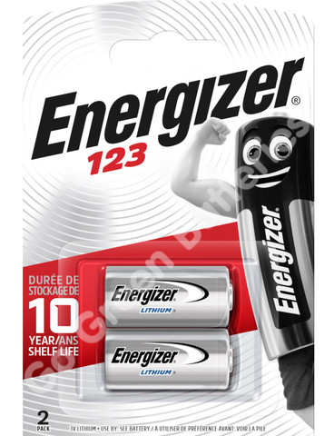 Energizer CR123 Photo Lithium Battery 2 pack