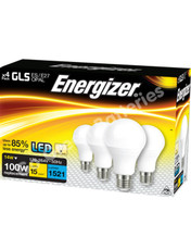 Energizer E27 14 Watt GOLF LED Bulb. 1521 Lumens. Equivalent - 100W (Opal/Warm White) 4 Pack.