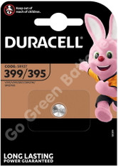 Duracell 399/395 1.5V Silver Oxide watch battery. 1 Pack