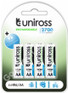 Uniross Performance AA 2700 mAh NiMH Rechargeable Batteries. 4 Pack
