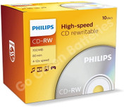 Philips CD-RW Blank Rewritable Discs
