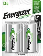 Energizer D 2500 mAh NiMH Power Plus Rechargeable Batteries (HR20). 2 Pack